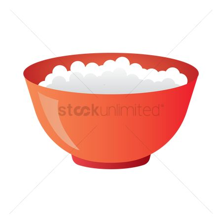 Lunch : Bowl of rice