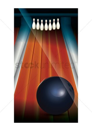Indoor : Bowling pins wallpaper for mobile phone
