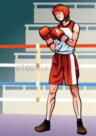 Boxing glove : Boxer in action