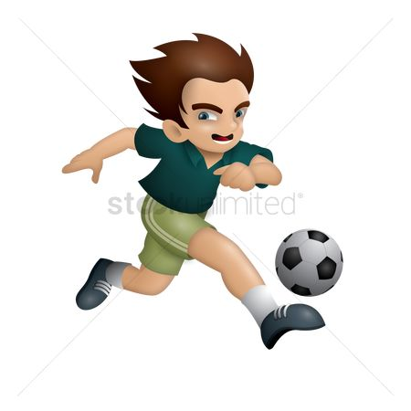Recreation : Boy playing football
