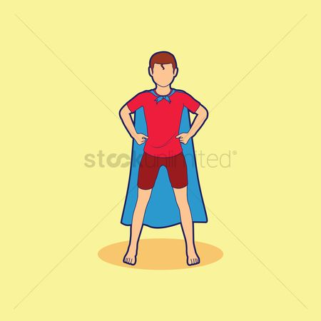 Play kids : Boy wearing cape