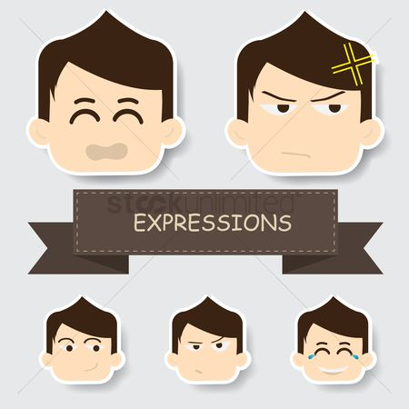 Annoy : Boy with different expression