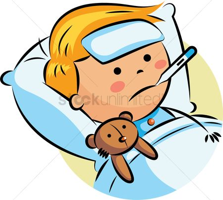 Temperatures : Boy with fever