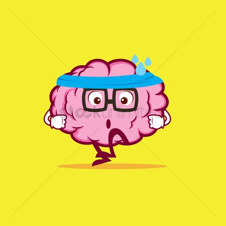Expression : Brain character exercising