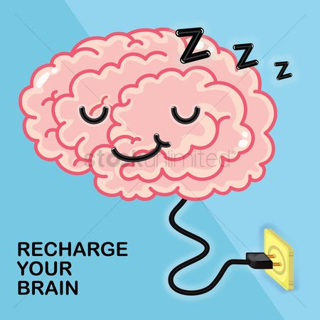 Image result for clipart sleepy brain