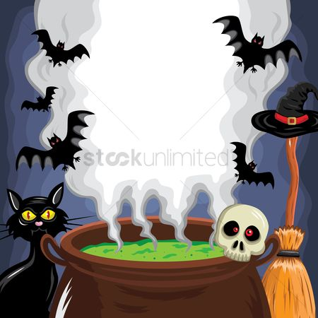 Oct : Brewing pot of a witch