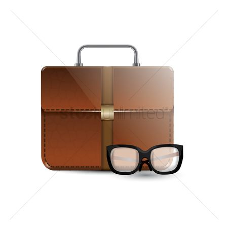 Portfolio : Briefcase with eyeglasses