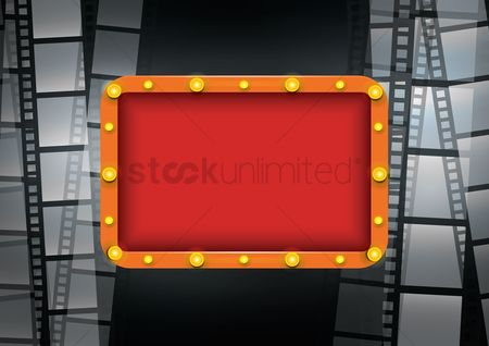 Signages : Broadway filmstrip design