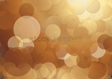 Graphic : Bubble on brown background