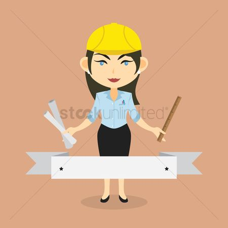 Free blueprint stock vectors stockunlimited 1263913 blueprint builder woman banner malvernweather Image collections