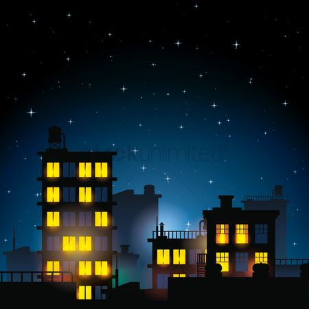 Building : Buildings at night