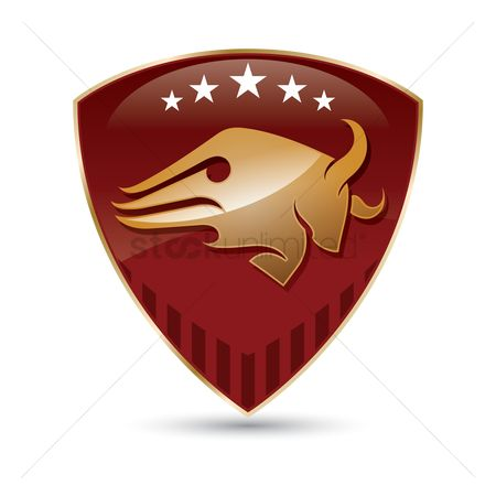 Bull : Bull icon shield