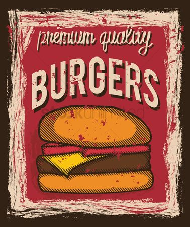 Oldfashioned : Burger poster