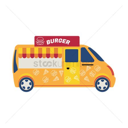 Businesspeople : Burger truck