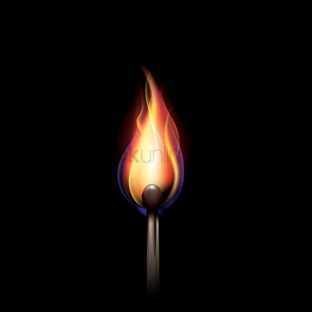 Fuel : Burning matchstick