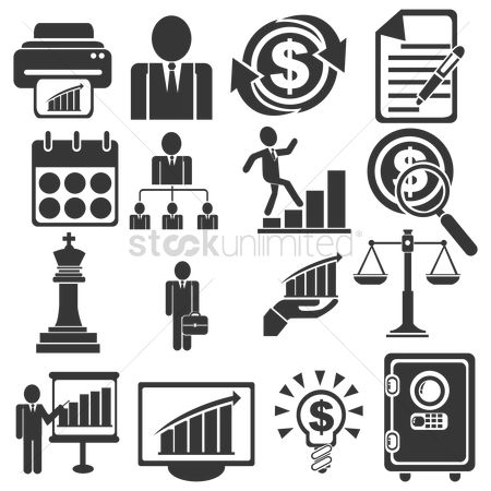 Common balance : Business and management icons