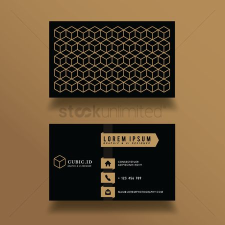 User interface : Business card design