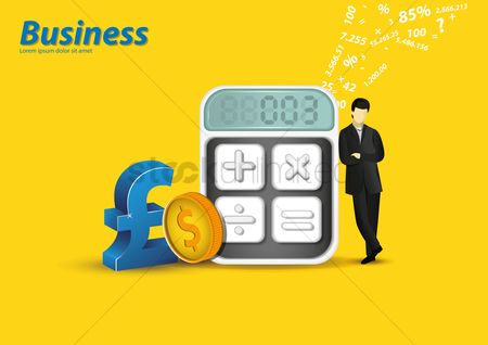 Calculations : Business concept