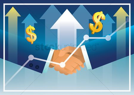 Business deal : Business cooperation concept