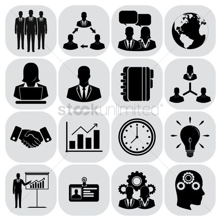 Work : Business icons set