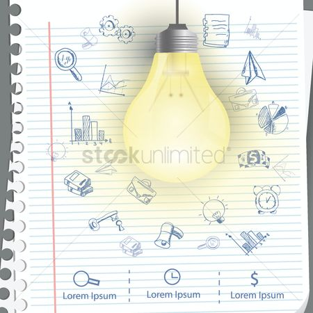 Sketching : Business ideas concept