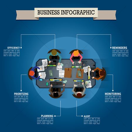 Workers : Business infographic design