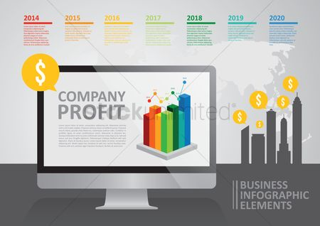 Buildings : Business infographic elements