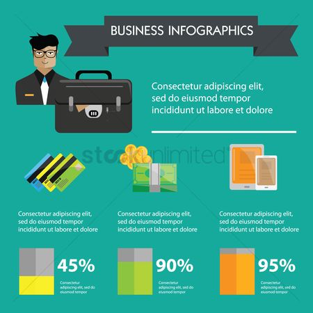 Briefcase : Business infographic