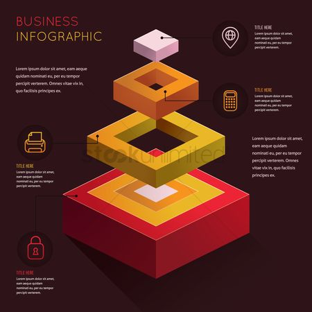 Calculator : Business infographic