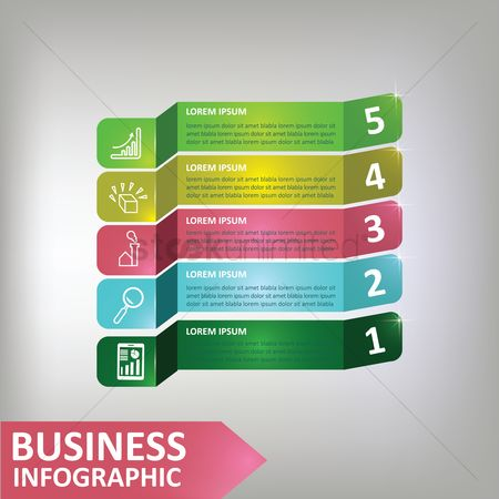 Vectors : Business infographic