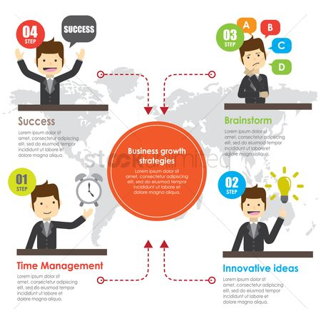 Market : Business infographic