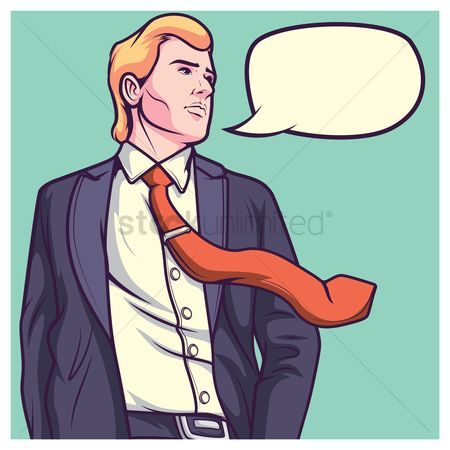 Businesspeople : Business man with speech bubble