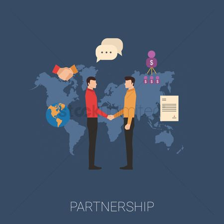 Profits : Business partnership concept