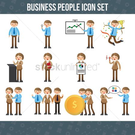 Success : Business people icon set