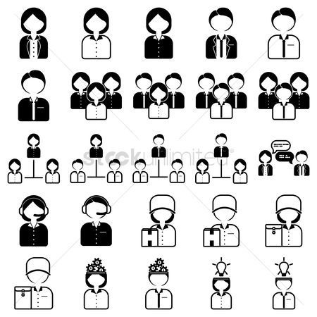 Wheel : Business people icons