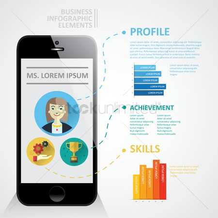 Achievement : Business profile infographic