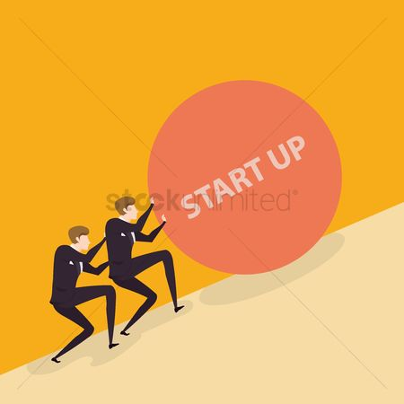 Businesspeople : Business start up concept