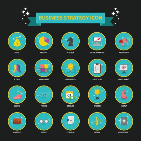Market : Business strategy icon