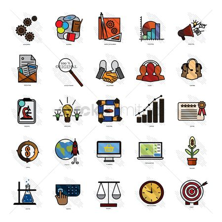 Research : Business strategy icons