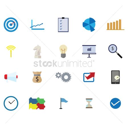 Profits : Business strategy icons