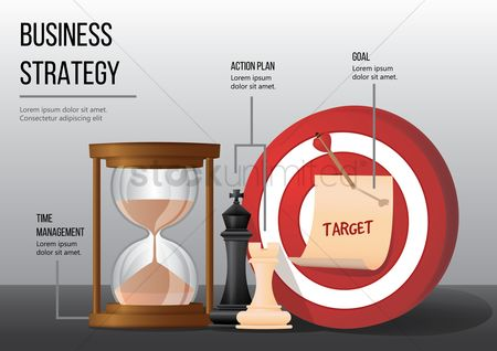 Achievement : Business strategy infographic