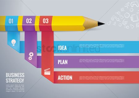 Copy space : Business strategy infography