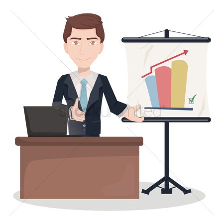 Smart : Businessman during presentation
