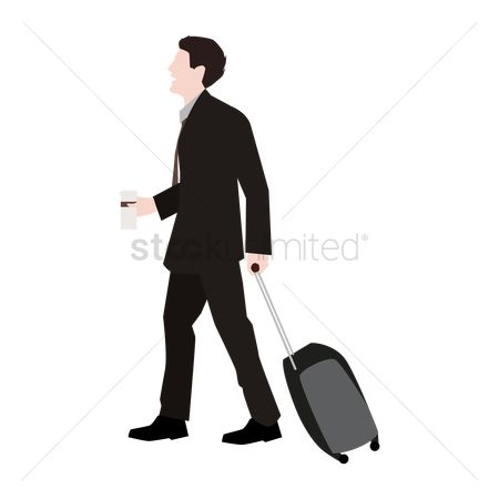 Journeys : Businessman going on a trip