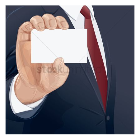 Smart : Businessman holding a blank card