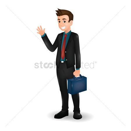 Workers : Businessman holding briefcase