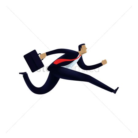 Productivity : Businessman running