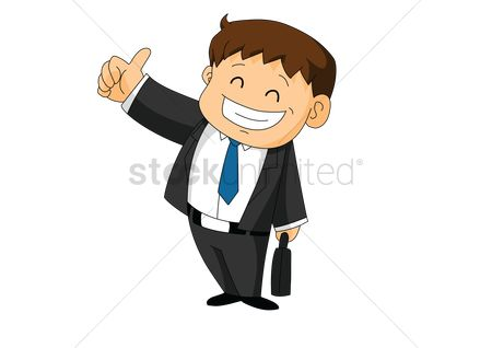 Ties : Businessman showing thumb up