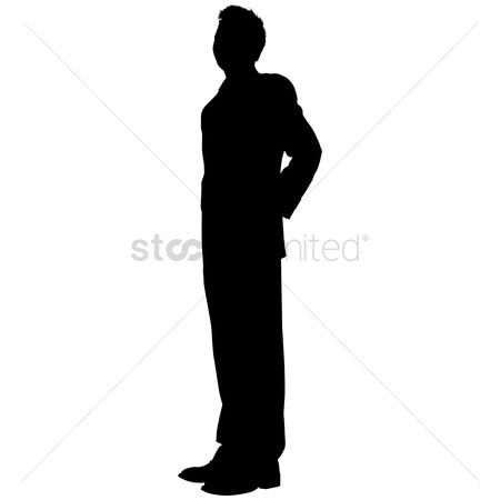 Coats : Businessman standing silhouette
