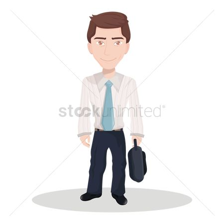 Smart : Businessman with a briefcase
